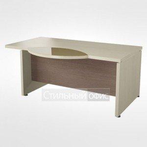 Рабочий стол со стеклянной правый вставкой в кабинет руководителя 44.06.24 правый