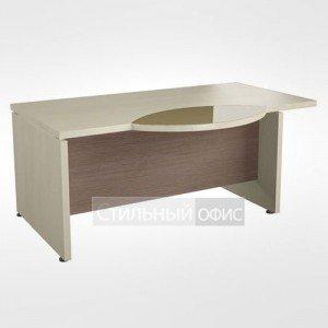 Рабочий стол со стеклянной левый вставкой в кабинет руководителя 44.06.24 левый