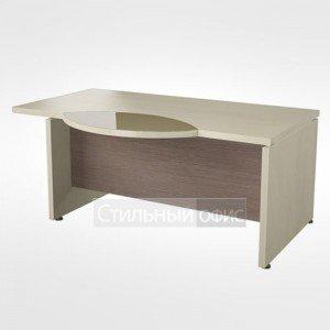Рабочий стол со стеклянной правый вставкой в кабинет руководителя 44.07.24 правый