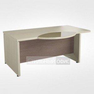 Рабочий стол со стеклянной левый вставкой в кабинет руководителя 44.07.24 левый