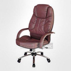 Кресло офисное для руководителя LK-12 CH Перфорированная натуральная кожа