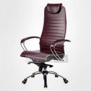 Кресло офисное для руководителя Samurai K1 Перфорированная натуральная кожа