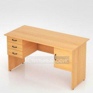 Стол с двумя тумбами комбинированный для офиса