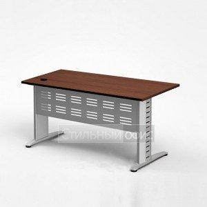 Стол на металлокаркасе с метал. экраном