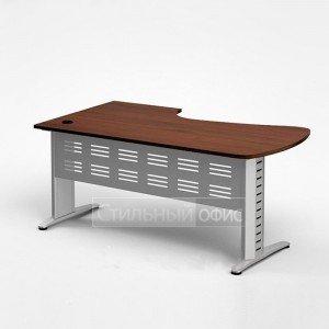 Стол эргономичный на металлокаркасе 160*90*76 с метал. экраном