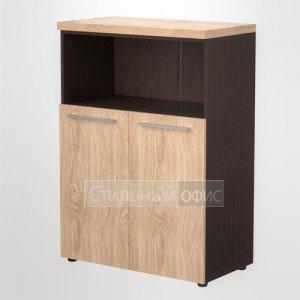 Шкаф с открытой нишей средний широкий офисный для руководителя AMC 85.3
