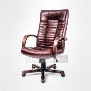 Кресло офисное для руководителя AV 104 натуральная кожа Алвест