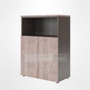 Шкаф средний с открытой нишей офисный для сотрудников