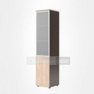 Шкаф со стеклом офисный левый для сотрудников
