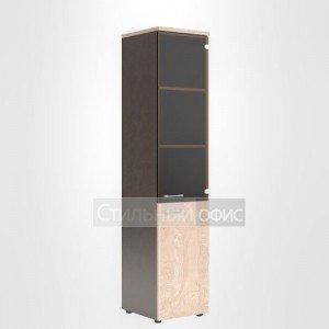 Шкаф со стеклом офисный правый для сотрудников