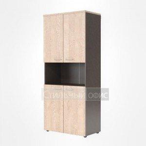 Шкаф высокий с открытой нишей офисный для сотрудников