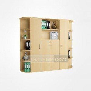 Комплект офисных шкафов для персонала в сборе 22.47.х 2 шт + 22.43.х 2 шт + 22.44.х + 22.52.х 2 шт + 22.53.х 2 шт
