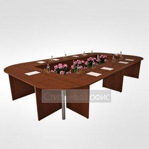 Стол переговорный офисный для персонала в сборе 22.01.х 6 шт + 22.62.х 4 шт + 22.40.1 4 шт + 22.73.8 4 шт