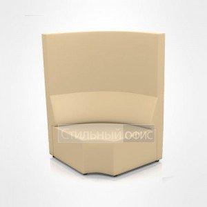 Диван двухместный угловой с высокой спинкой для отдыха