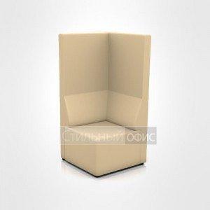 Кресло уголок с высокой спинкой офисное