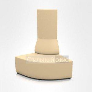Пуфик угловой с высокой спинкой офисное для отдыха