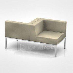 Кресло левое мягкое с приставкой офисное