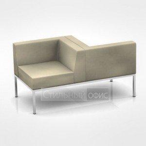 Кресло правое мягкое с приставкой офисное