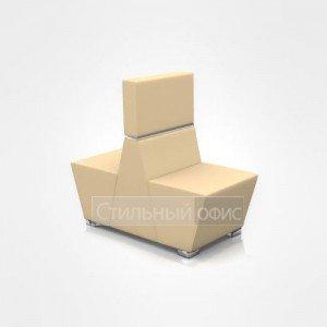 Кресло сдвоенное офисное мягкое для отдыха со средней спинкой
