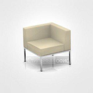 Кресло угловое мягкое офисное на металлических опорах