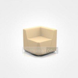 Кресло уголок мягкое с низкой спинкой офисное