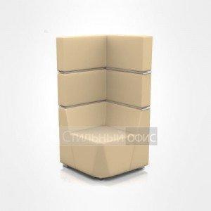 Кресло уголок мягкое с высокой спинкой офисное