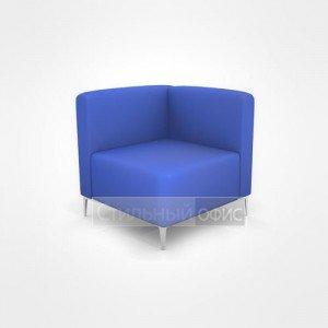 Кресло уголок для отдыха офисный с низкой спинкой