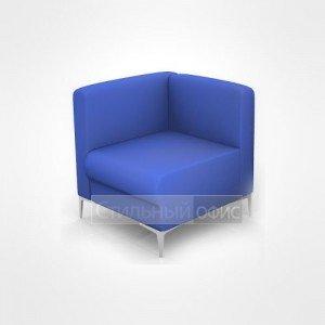 Кресло угловое мягкое левое с низкой спинкой офисное для отдыха