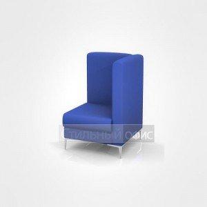Кресло угловое мягкое левое со средней спинкой офисное для отдыха