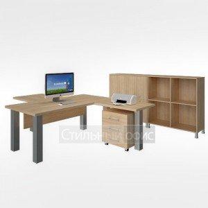 Мебель в кабинет руководителя акация LT-D 18 + LT-BR1 + LT-BR3 + LT-710 + LT-TM + LT-SD1 + LT-D4 Л + LT-D4Пр + NZ 60-100 Riva