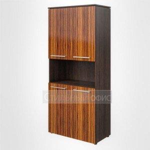 Шкаф высокий широкий с открытой нишей офисный для руководителя MHC 85.4 Skyland