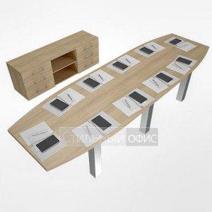 Набор мебели для переговорной комнаты акация LT-TS 3.1 1шт.+NZ 60-100 6шт.+LT-SO 2шт.+LT-710 6шт. Riva