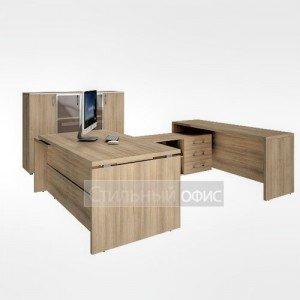 Набор мебели в кабинет руководителя акация LT-В 18 R 1шт.+LT-TS 2 R\L 1шт.+LT-PS18 1шт.+LT-SU 1.9R 1шт.+LT-SU 1.9L 1шт.+LT-ST 2.4R 1шт.+LT-T4 1шт. Riva