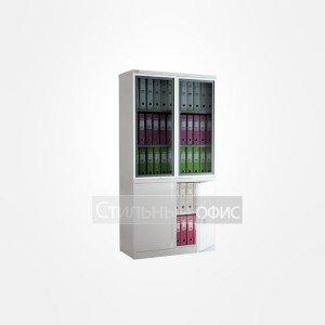 Металлический офисный шкаф NM-1991/2G