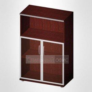 Офисный шкаф для бумаг полузакрытый со стеклом