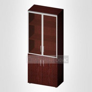Офисный шкаф для бумаг закрытый стекло