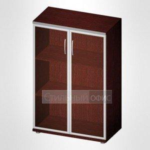 Офисный шкаф для документов средний со стеклом