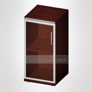 Офисный шкаф для документов узкий со стеклом