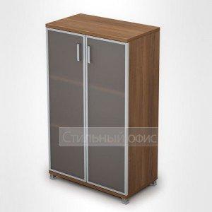 Шкаф со стеклянными дверками в алюминиевой рамке 6Ш.017.4 Алсав
