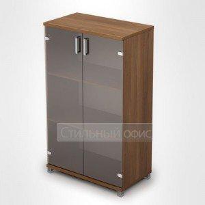 Шкаф средний широкий со стеклянными дверками