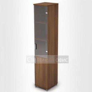 Шкаф узкий высокий со стеклянной дверкой 6П.005.3 Алсав