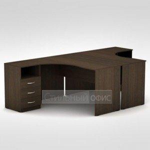 Стол офисный с тумбой приставной 3С.041 + 3С.044 + 3Т.002 + 3Т.002 + 3ТП.002 + 3ТП.002 Алсав