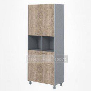 Шкаф закрытый высокий широкий с открытой нишей офисный для сотрудников