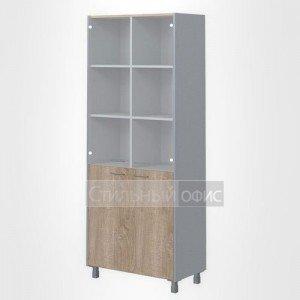 Шкаф со стеклом высокий широкий офисный для сотрудников