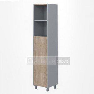 Шкаф высокий узкий полузакрытый правый офисный для сотрудников