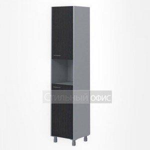 Шкаф высокий узкий с открытой нишей правый офисный для сотрудников