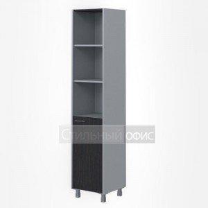Шкаф высокий узкий правый полузакрытый офисный для сотрудников