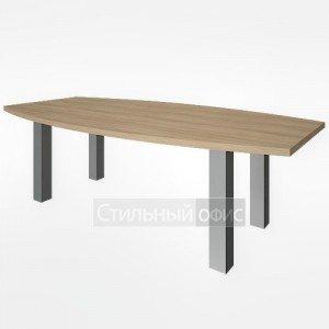 Стол переговорный большой на металлических опорах для руководителя LT-SP2