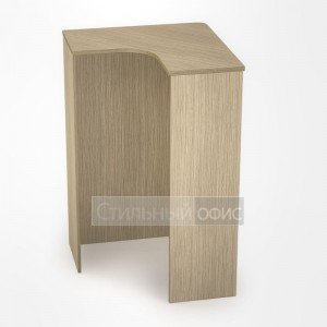 Ресепшн угловой с деревянной вставкой