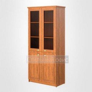 Шкаф высокий широкий со стеклом офисный для руководителя RHC 89.2 Skyland